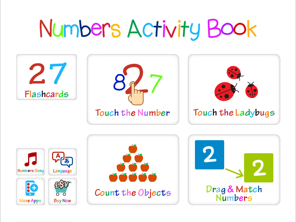 Kindergarten Activity Book for Numbers Learning & recognition