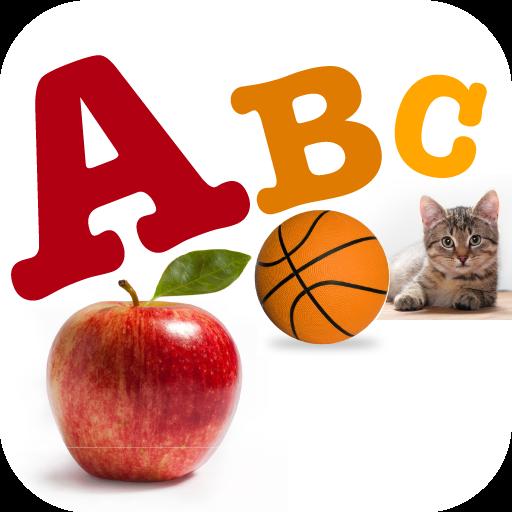 A For Apple Alphabet Flashcard for Preschool Kids
