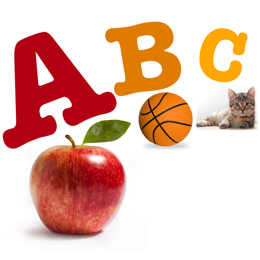 A For Apple - Alphabets Flashcard for Montessori Kids