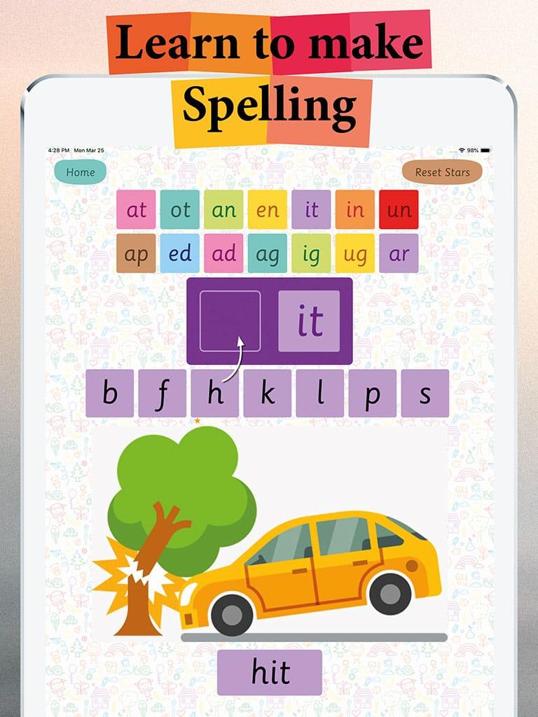 cvc learn spelling 3 three letter words