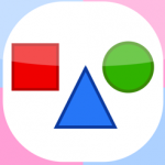 Shapes for kids, Flashcards app