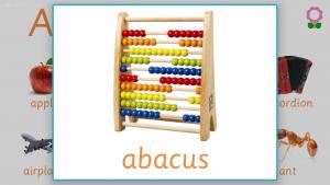 kindergarten words that start with a