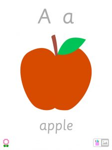 montessori kindergarten preschool alphabet flaschards