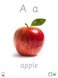 A for Apple (Alphabet Flashcards for Kids)