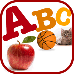 A For Apple - Alphabet Flashcards for Montessori Kids